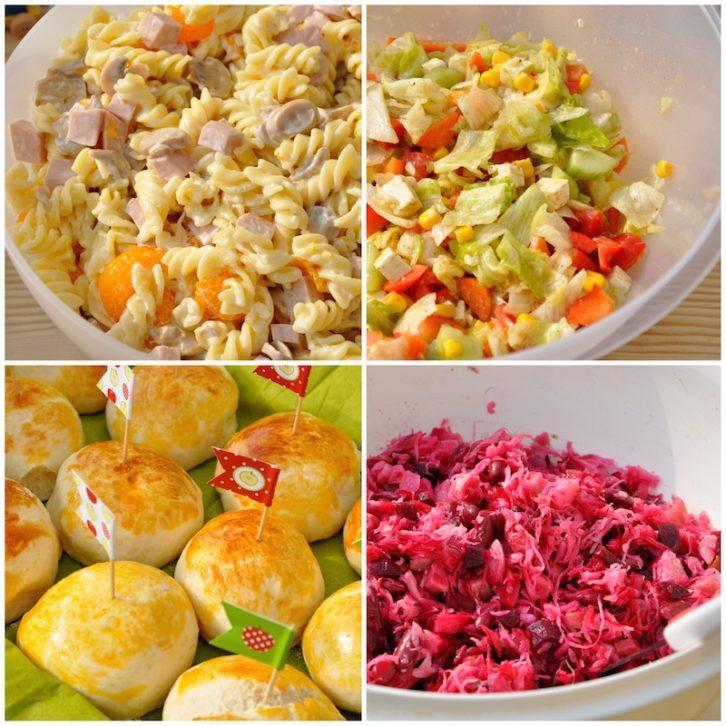 1. Geburtstag Essen Buffet Brötchen