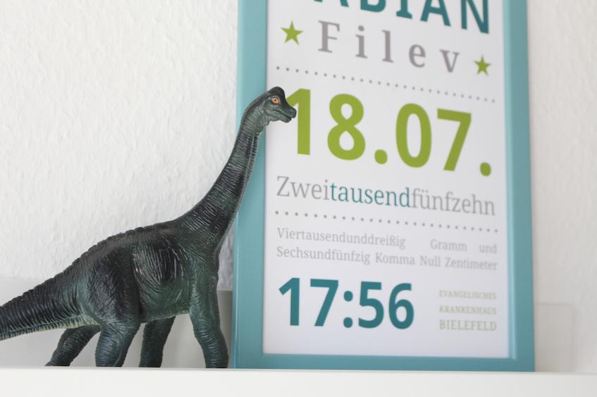 Kinderzimmer Jungen Dino Geburtsdatenbild