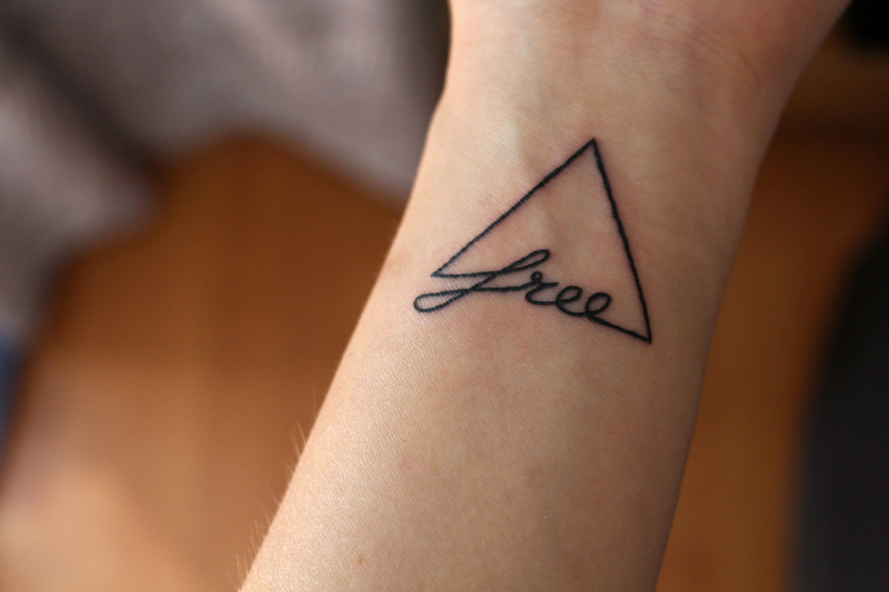 Tattoo Dreieck Free Frei Bedeutung Handgelenk