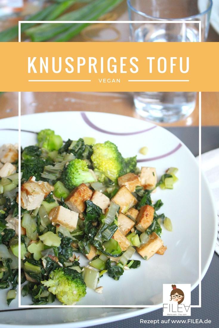 Veganes knuspriges Tofu mit Brokkoli Pinterest