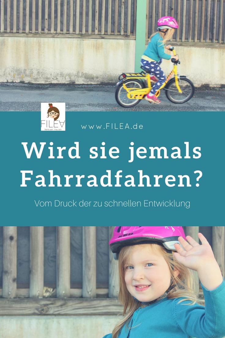 Wird sie jemals Fahrradfahren?