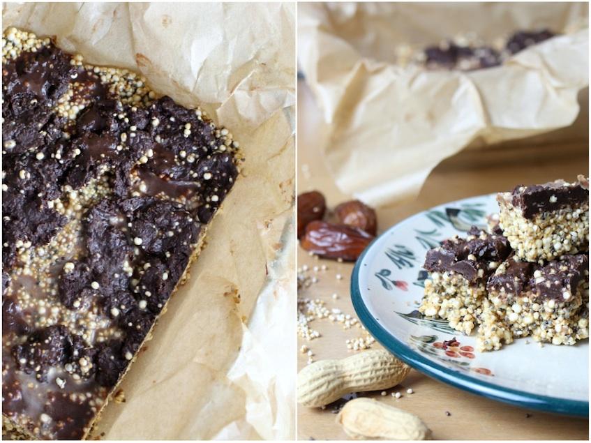 Erdnuss Quinoa Amaranth Riegel glutenfrei zuckerfrei selbst und einfach herstellen