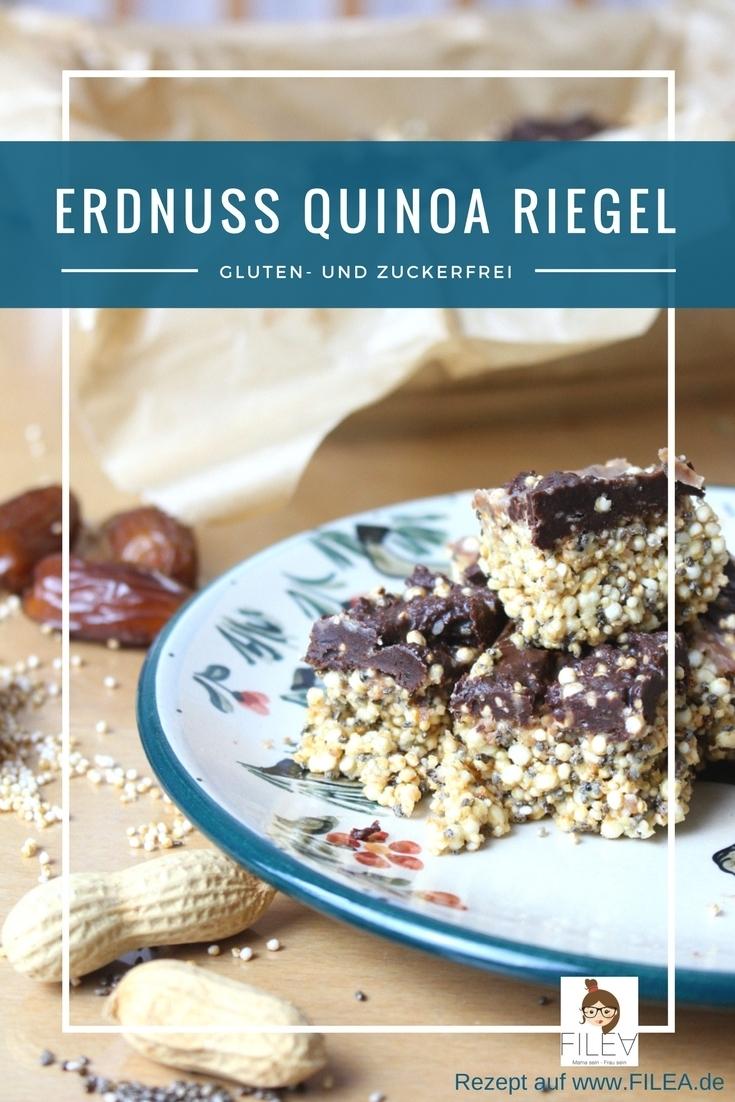 Erdnuss Quinoa Riegel glutenfrei zuckerfrei selbst herstellen Blog