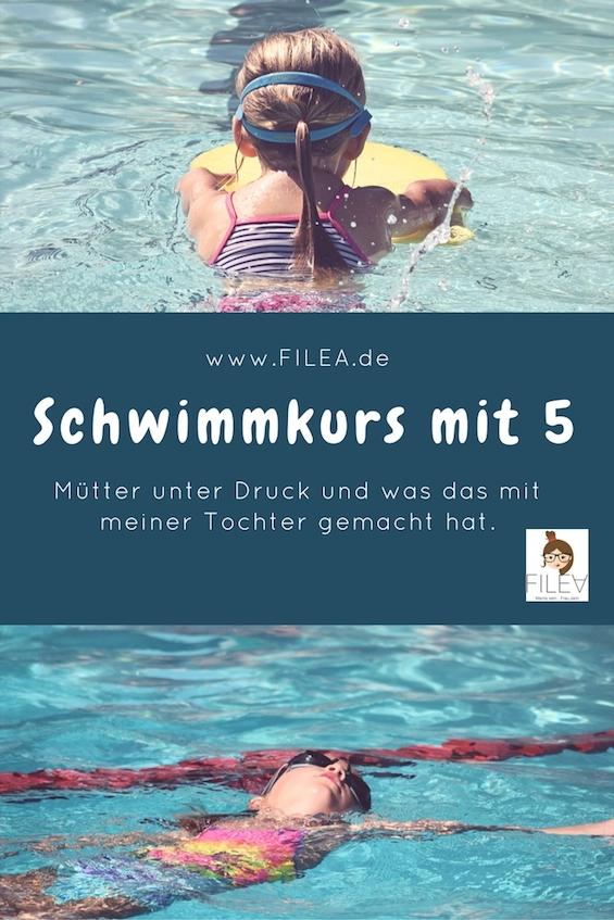 Schwimmkurs mit 5 Mütter unter Druck