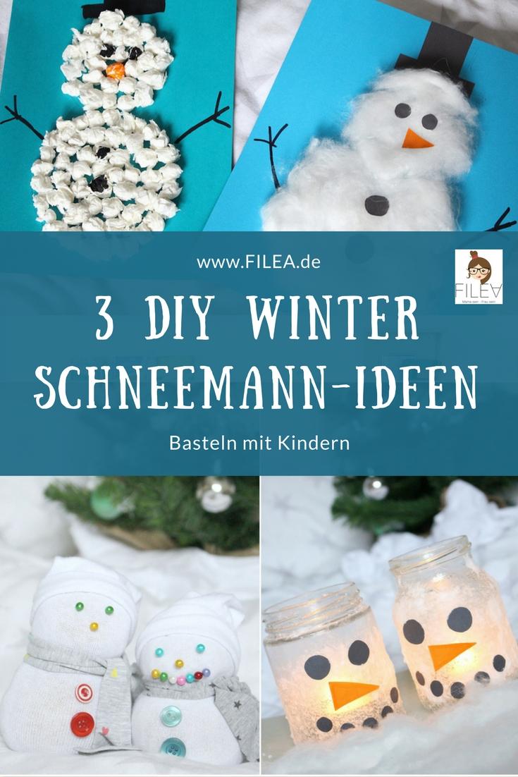 Socken Schneemann Weihnachten Diy Ideen Winter Knopfe Basteln Kinder
