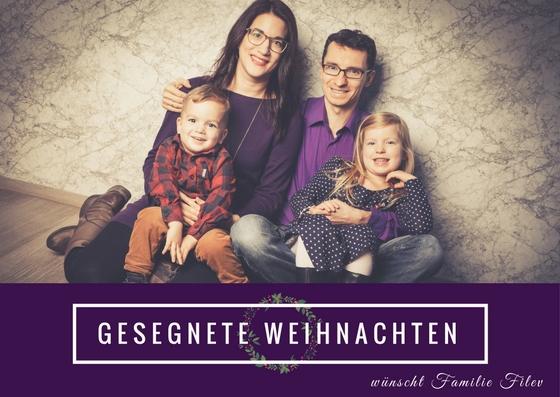 Weihnachtskarte Familie Filev 2017