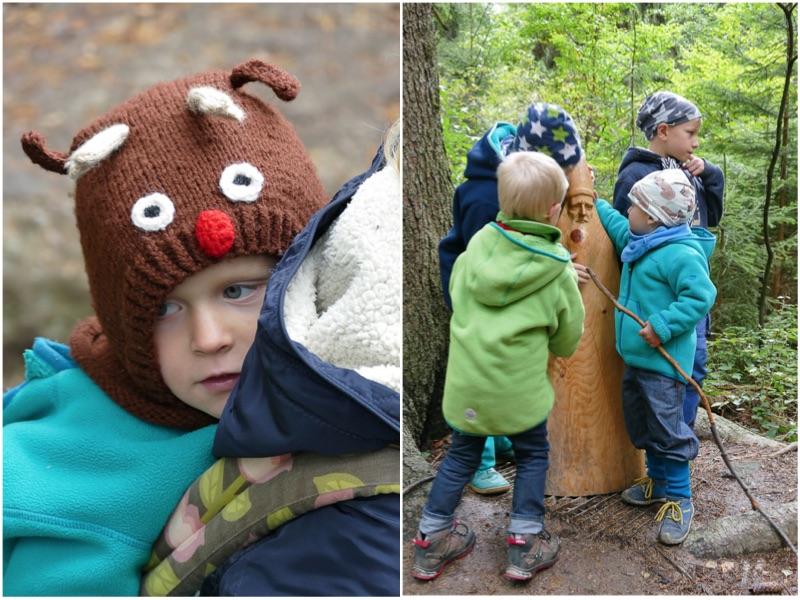 Eine Mama mit vier Jungs und ihrem trubeligen Alltag Mütze Wald