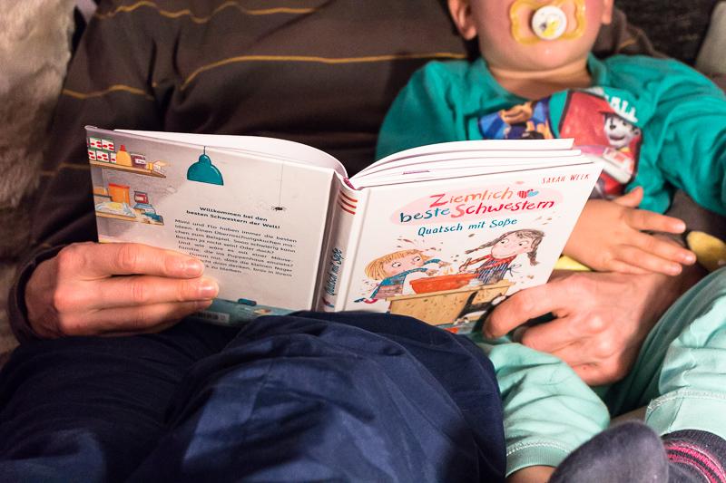 Ziemlich beste Schwestern Kinderbuch Sarah Welk Quatsch mit Soße arsEdition Abendritual Vorlesen