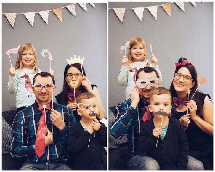Silvester mit Kindern Foto Accesoires